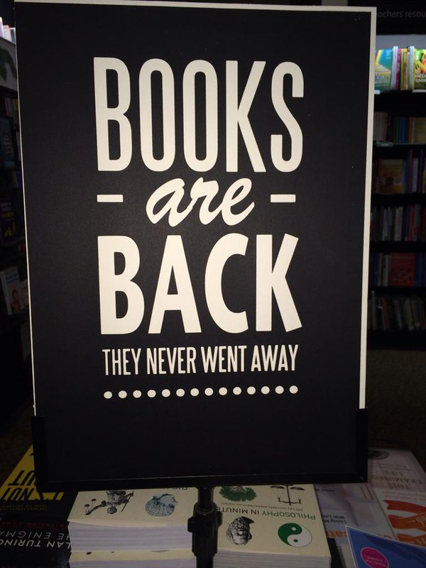 Books are back